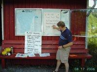 Bjarne og jeg har vaktrunde i elva med div.arbeid 17 aug 06 001